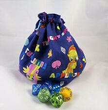 My Little Pony RPG Bag - Drawstring Dice Bag - D&D Role Play Game - Tile Pouch