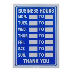 Swift Blue Business Hours Shop Sign Restaurant Opening Times BS20