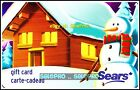 SEARS CANADIAN WINTER DAY SNOWMAN #6042 FR/ENG RARE COLLECTIBLE GIFT CARD For Sale