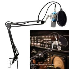 Professional Condenser Microphone Studio Broadcasting Recording Mic With Stand