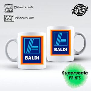 BALDI MUG Novelty Rude Cup Adult Baldy Gift Birthday Meme Fathers Day Aldi Mug