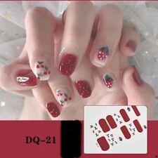 1Sheet 3D Nail Sticker Strawberry Flowers Image Wraps Spring Summer Nail Art Dec