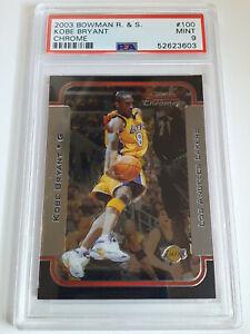 2003 Bowman Rookies & Stars Kobe Bryant #100 CHROME - PSA 9 (LOW POP)