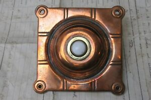 Arts & Crafts Copper & Brass Square Door Bell Push - China Button