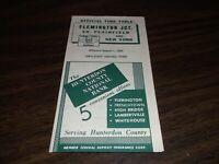 AUGUST 1960 LEHIGH VALLEY FLEMINGTON JCT. SOUTH PLAINFIELD, NJ PUBLIC TIMETABLE