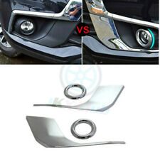 Chrome Front Fog Lamp Eyelid Cover For Mitsubishi ASX Outlander Sport 2016-2017