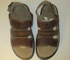 Dr. Martens Open Toe Brown Sandals. Buckle strap. SZ 8M