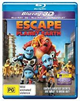 Escape From Planet Earth (Blu-ray Only, 2013) 1 Disc Kids Alien Movie PG Rated