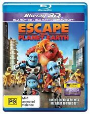 Escape From Planet Earth 3D, 2D & Digital  (Blu-ray, 2013) New & Sealed