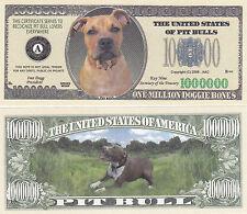 50 Pit Bull Pitbull Dog K-9 Novelty Money Bills - New #249