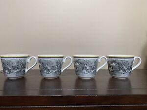 Set of 4 Villeroy & Boch Audun Ferme Cups