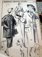 *LOVELY VTG 1950s COAT & SKIRT ADVANCE Sewing Pattern 17/35 FF