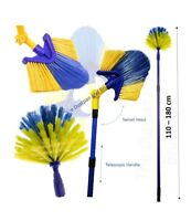 Extendable Cobweb Brush Adjustable Angled Feather Duster Long Telescopic Handle