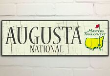 Augusta National Home of The Masters Vintage Golf Sign, Handmade, Rustic