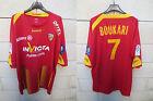 Maillot porté R.C LENS Ligue 1 NIKE trikot BOUKARI n°7 match worn shirt XXL 2010