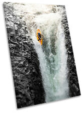 Kayaker Extreme Sports Print CANVAS WALL ART Portrait Picture Multi-Coloured