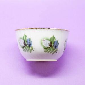 Elizabethan White Roses Small Sugar Bowl Vintage England
