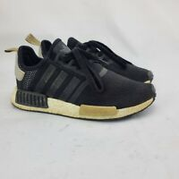 Adidas NMD-R1 Women's Size 8.5 Running Shoes Black Black Gum Sneakers