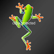 Green Tree Frog car bumper sticker vinyl decal most flat surfaces 128 x 177 mm