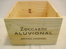 OLD WOOD-WOODEN ZUCCARDI ALUVIONAL MENDOZA ARGENTINA WINE CRATE BOX