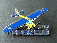 PIPER J-3 CUB LIGHT AIRCRAFT ARMY AVIATION PLANE LAPEL PIN BADGE 1.5 INCHES