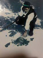ORIGINAL ART JEREMY WILSON 'ON THE TRAIL' SGND ON HARD BOARD COWBOY RUGGED