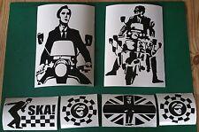 Large quadrophenia Jimmy ska Two Tone Stickers x6 Mod Ska northen soul