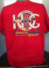 VINTAGE HARLEY DAVIDSON OWNER'S GROUP SHIRT XL1988 Ashville NC Motorcycle Red