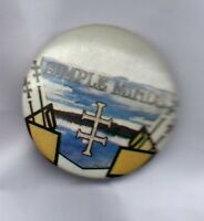 SIMPLE MINDS  BUTTON BADGE Scottish Rock Band Sparke In The Rain 25mm D Pin 80s