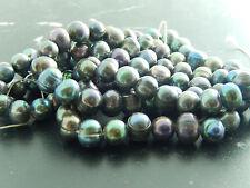 Perles de culture d'eau douce,noir è7/8mm