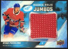 2019/20 UD Ice Rookie Relic Jumbos Ryan Poehling #187/199 Montreal Canadiens