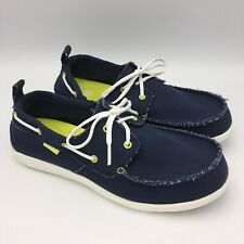 Crocs Walu Lona Cubierta Zapatos para hombre 13 Azul Marino Blanco b0f1fd5c9dd7