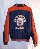 University of Illinois Chief Illiniwek Mens Jacket Size Medium Steve & Barry's