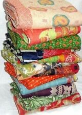 Indian Vintage Kantha Throw Bedding Bedspread Quilt Reversible Coverlet Lot 5PC