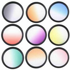 Camera Lens Gradual Color Filter For Canon Nikon Sony Orange Purple Yellow Blue