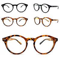 Oval Round Black Tortoiseshell Clear Lens Glasses Geek Nerd Eyeglasses
