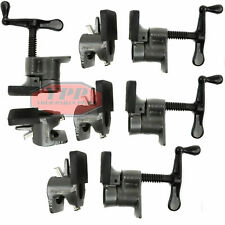 """4 Pack 3/4"""" Wood Gluing Pipe Clamp Quick Release HD Wide Base Woodworking Pro"""