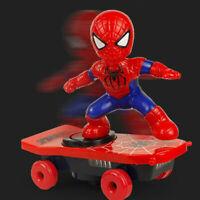 Skateboard Electric Music Kids Sound 360° Rotation Spiderman Scooter Superhero