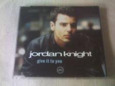 JORDAN KNIGHT - GIVE IT TO YOU - 4 TRACK UK CD SINGLE