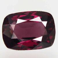 2.10 Ct Natural Pinkish Red Spinel Burma ( Mogok ) Unheated Cushion Gemstone