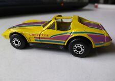 1979 Matchbox Chevrolet Corvette (yellow with blue & purple stripes) 1:64 Scale