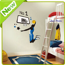 Basketball Wall Stickers Decal Nursery Kids Living Room Sports Home Mural Art