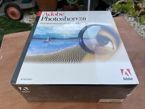 ADOBE PHOTOSHOP 7.0 Full Version Windows XP Software Box New