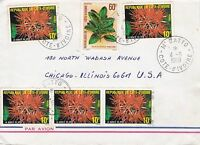 BD818) Ivory Coast 19 nice cover to USA