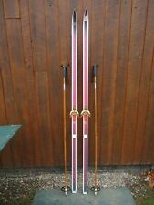 """New listing Great Ready to Use Cross Country 79"""" Dynastar 205 cm Snow Skis + Poles"""