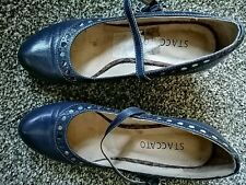 Staccato Wedge Shoe Blue Size 38