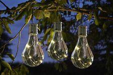 Eureka LED Solar Lightbulb Lantern Clear Set of 6 - By Smart Solar