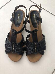 Van Dal Ladies wedge Black Sandals Size 6