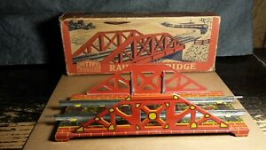 Vintage Mettoy | 5619 Railway Bridge | O Gauge | w/Box | 1950s | Tin | Excellent