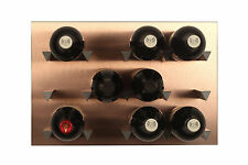 Vinowall Wall Mounted Wine Rack 12 Bottle (Brushed Copper Finish)